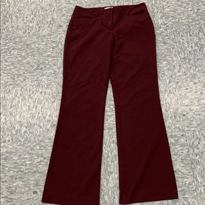 New York & Company Wine colored dress pant
